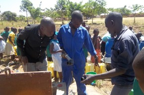 January 2015 - Water borehole pump repair completed ad water running again.