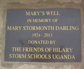 Water bore hole construction in 2013 was enabled by many friends of the late Mary Stormonth Darling.